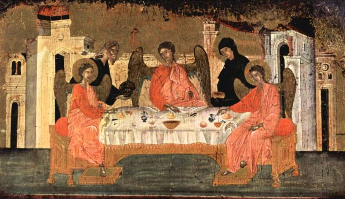 Abraham sets the table