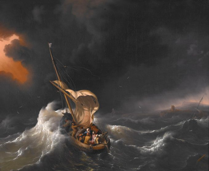 Boat in the Storm