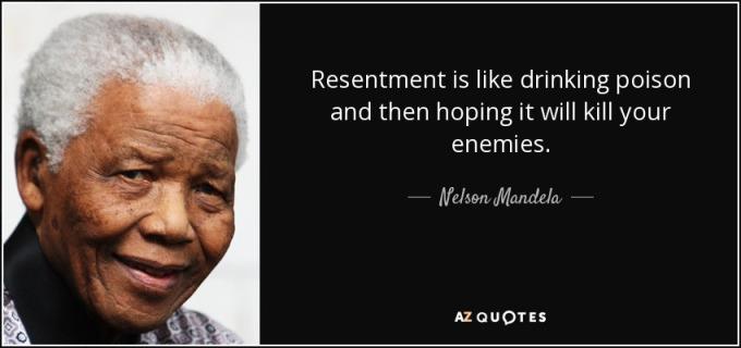 Resentment - Mandela