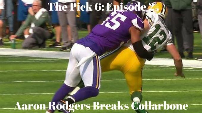 Aaron Rodgers breaks collarbone