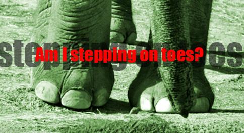 steppingontoes