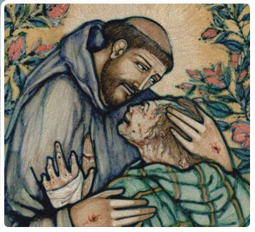 St. Francis & Leper 4