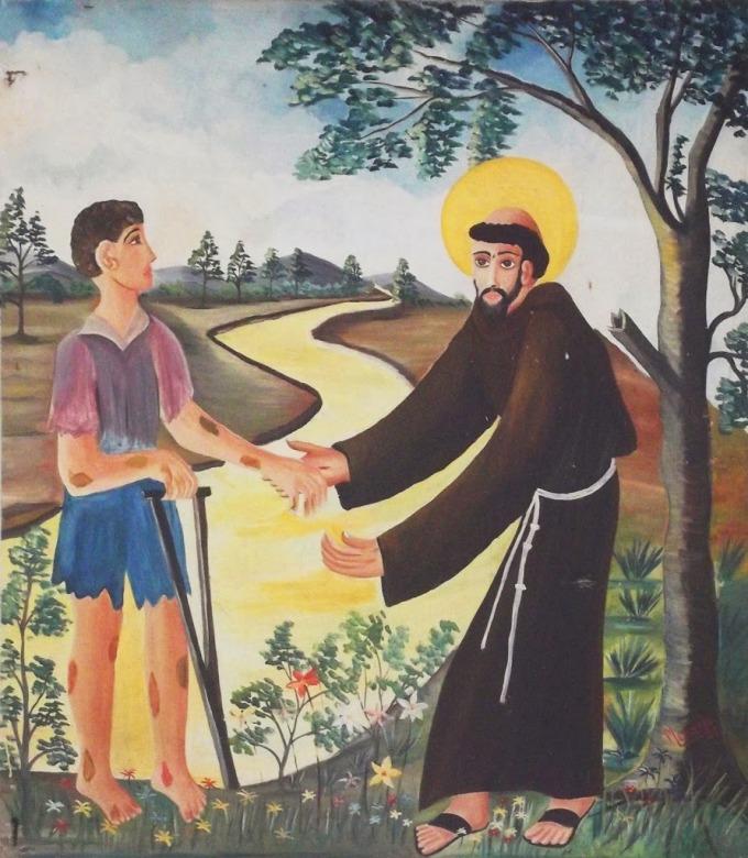 St. francis & Leper 6