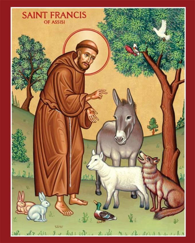 St. Francis of Assisi & animals